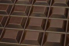 Donkere chocoladevierkanten Stock Fotografie