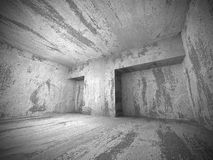 Donkere concrete lege ruimte binnenlandse achtergrond Royalty-vrije Stock Fotografie