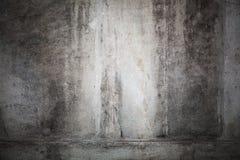 Donkere concrete muur met het effect van de vignetfoto Stock Afbeelding