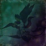 Donkere de geestrol van de Engel - Grungy achtergrond Stock Foto's