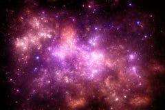 Donkere diepe ruimte starfield Stock Afbeelding