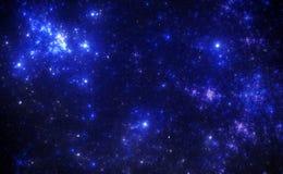 Donkere diepe ruimte starfield Stock Foto's