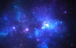 Donkere diepe ruimte starfield Royalty-vrije Stock Afbeelding