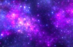 Donkere diepe ruimte starfield Royalty-vrije Stock Fotografie