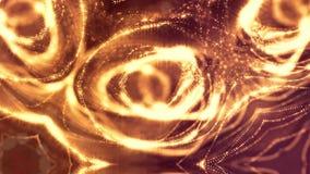 Donkere digitale abstracte achtergrond met mooie gloeiende deeltjes 3d geef achtergrond met deeltjes en diepte van terug stock video