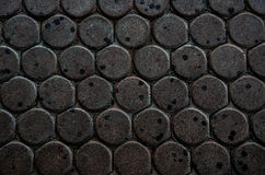 Donkere ditry van het de wormblok van de wegbaksteen de wormachtergrond Stock Foto