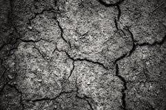 Donkere dramatisch van gebarsten grond met vignetting Royalty-vrije Stock Fotografie