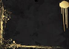 Donkere elegante luxebrochure, kaart, achtergronddekking Zwarte en gouden abstracte waterverftextuur als achtergrond Ploeter goud Royalty-vrije Stock Afbeeldingen