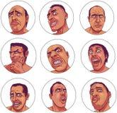 Donkere Emoties royalty-vrije illustratie