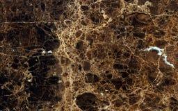 Donkere emperador marmeren oppervlakte Stock Foto's