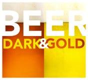 Donkere en gouden biertextuur Stock Fotografie