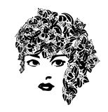 Donkere en Knappe Vrouw royalty-vrije illustratie