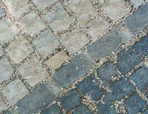 Donkere en lichtgrijze de bestratingstextuur van de granietsteen, abstracte maïskolf Stock Fotografie