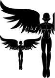 Donkere engel Stock Afbeeldingen