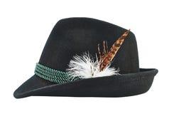 Donkere fedora zoals geïsoleerde hoed royalty-vrije stock afbeelding