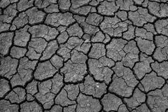 Donkere Gebarsten grond van woestijn Royalty-vrije Stock Afbeelding