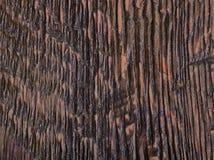 Donkere gebrande eiken plaat Stock Fotografie