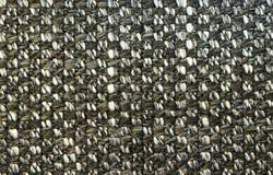 Donkere gedetailleerde stoffentextuur Royalty-vrije Stock Afbeelding