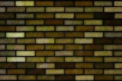 Donkere gele bakstenen muur Royalty-vrije Stock Afbeelding