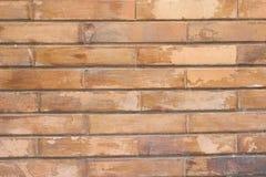 Donkere gele bakstenen muurachtergrond stock fotografie