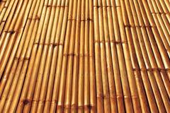 Donkere gele bamboelijst voor achtergrond Royalty-vrije Stock Foto
