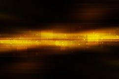 Donkere gele technologieachtergrond Stock Foto