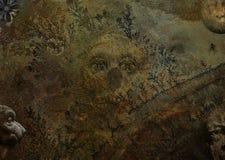 Donkere Gotische Textuurachtergrond Royalty-vrije Stock Afbeeldingen