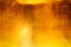 Donkere goud opgepoetste metaaltextuur royalty-vrije stock afbeeldingen