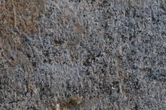 Donkere Grey Coarse Concrete Stone Wall-Textuur, Horizontale Macroclose-up Oud Oud Doorstaan Gedetailleerd Natuurlijk Gray Rustic Stock Afbeeldingen
