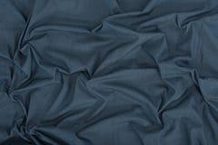 Donkere grijze linnentextuur Stock Foto's