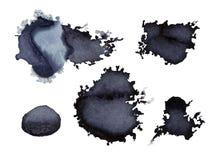 Donkere grijze Waterverfvlekken stock illustratie