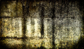 Donkere grunge concrete muur Royalty-vrije Stock Foto's