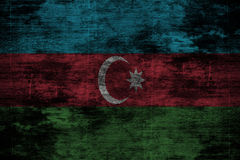 Donkere grunge houten achtergrond of textuur met het mengen van de vlag van Azerbeidzjan Stock Fotografie