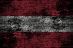 Donkere grunge houten achtergrond of textuur met het mengen van de vlag van Oostenrijk Royalty-vrije Stock Fotografie