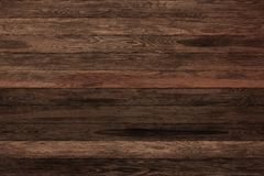 Donkere grunge houten panelen Plankenachtergrond Oude muur houten uitstekende vloer Stock Foto's