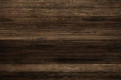 Donkere grunge houten panelen Plankenachtergrond Oude muur houten uitstekende vloer Stock Fotografie