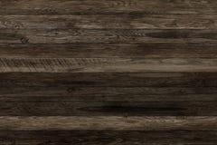 Donkere grunge houten panelen Plankenachtergrond Oude muur houten uitstekende vloer Stock Foto