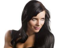 Donkere haired vrouw Stock Afbeeldingen