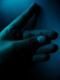 Donkere Hand royalty-vrije stock afbeeldingen