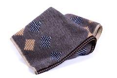Donkere handdoek met witte achtergrond stock afbeeldingen