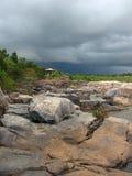 Donkere hemel in Bangiposhi royalty-vrije stock fotografie