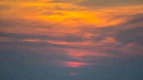 Donkere hemel bij zonsondergang Stock Foto