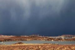 Donkere hemel in de hooglanden Royalty-vrije Stock Afbeeldingen