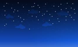 Donkere hemel met wolken royalty-vrije illustratie