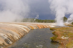 Donkere Hemel over Yellowstone Royalty-vrije Stock Afbeeldingen
