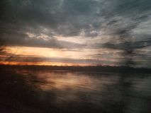 Donkere hemel in Washington royalty-vrije stock foto's