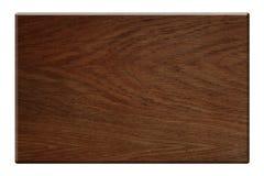 Donkere houten die plaat met het knippen van weg wordt geïsoleerdn Royalty-vrije Stock Foto's