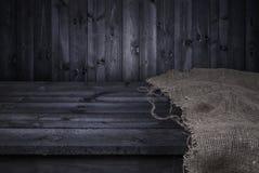 Donkere houten lijst voor de montering van de productvertoning Stock Fotografie