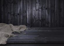Donkere houten lijst voor de montering van de productvertoning Royalty-vrije Stock Afbeelding
