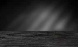Donkere houten lijst voor de montering van de productvertoning Stock Foto